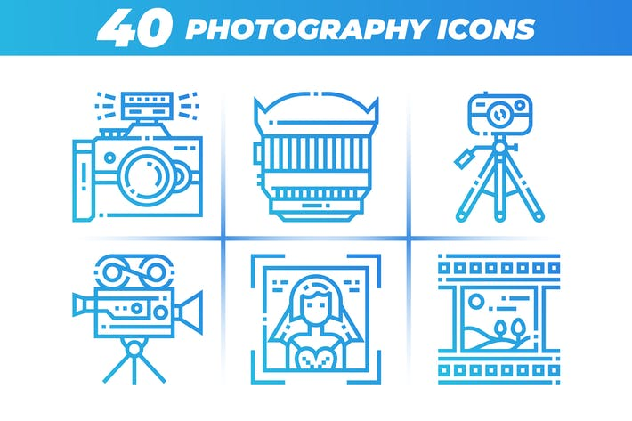 Cover Image For 40 Photography Icons