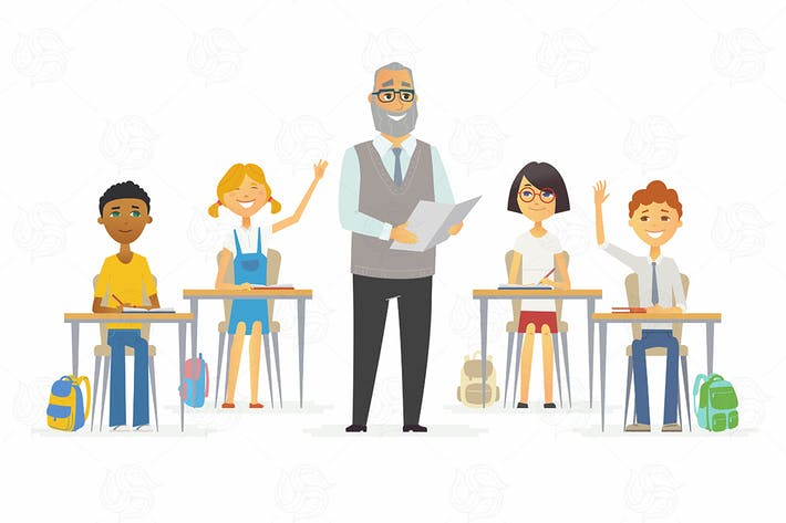 Thumbnail for School - cartoon people characters illustration