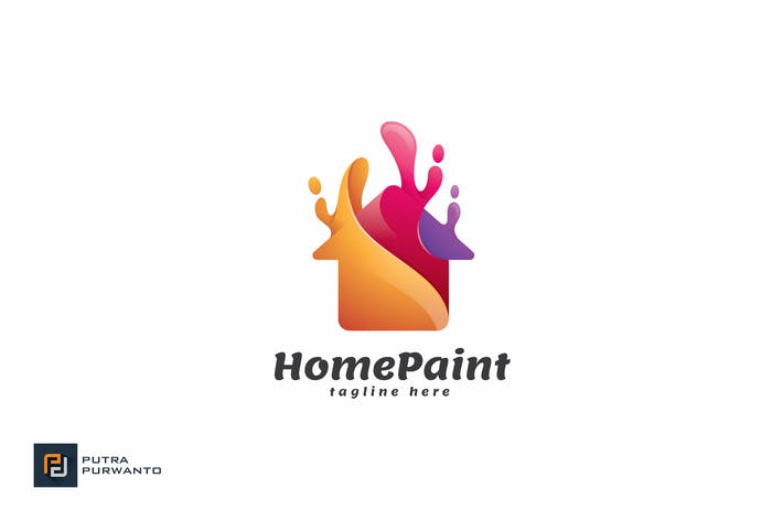Thumbnail for Home Paint - Logo Template