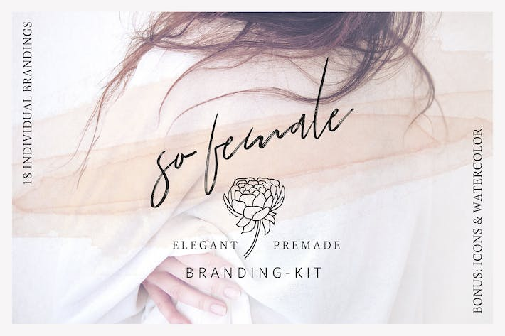 Thumbnail for So Female Branding Kit + Icons & Watercolours