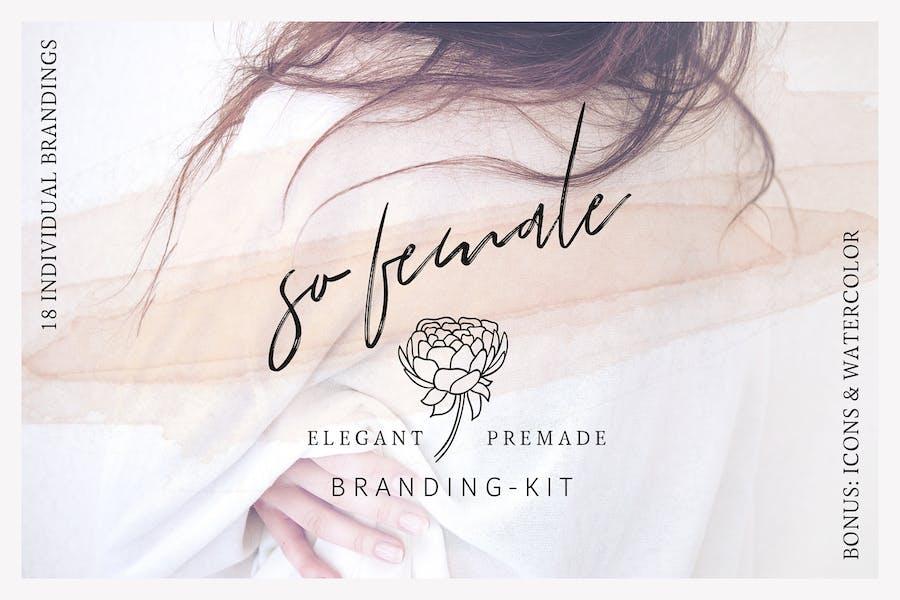 So Mujer Branding Kit + Íconos y acuarelas