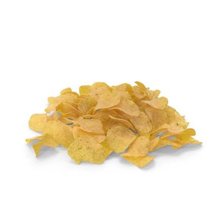 Куча картофельных чипсов