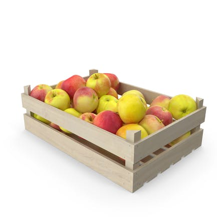Apples Wooden Crate