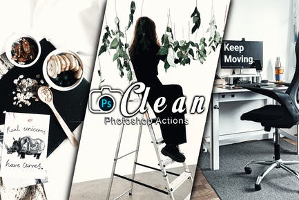 Clean Photoshop Actions