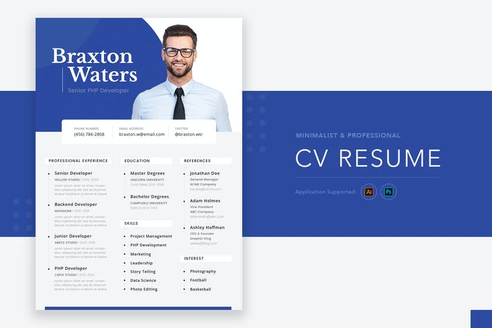 Thumbnail for Minimalist Professional CV Resume Vol.01