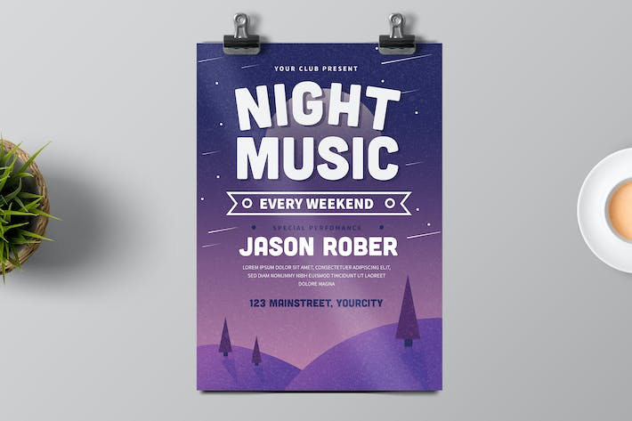 Thumbnail for Night Music Flyer