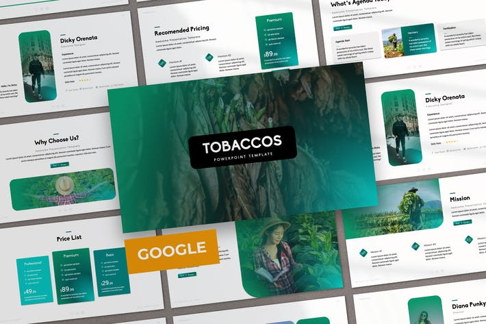 Thumbnail for Tobaccos Creative Business Google Slide
