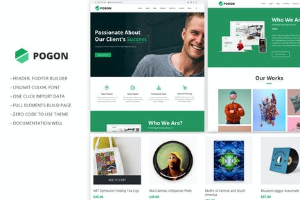 Pogon - Business and Finance Corporate Theme