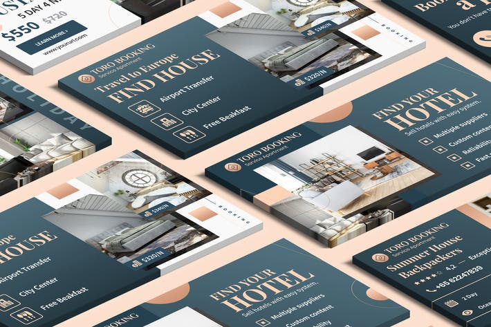 Cover Image For Hotel & Travel Agency Facebook Ad PSD Template
