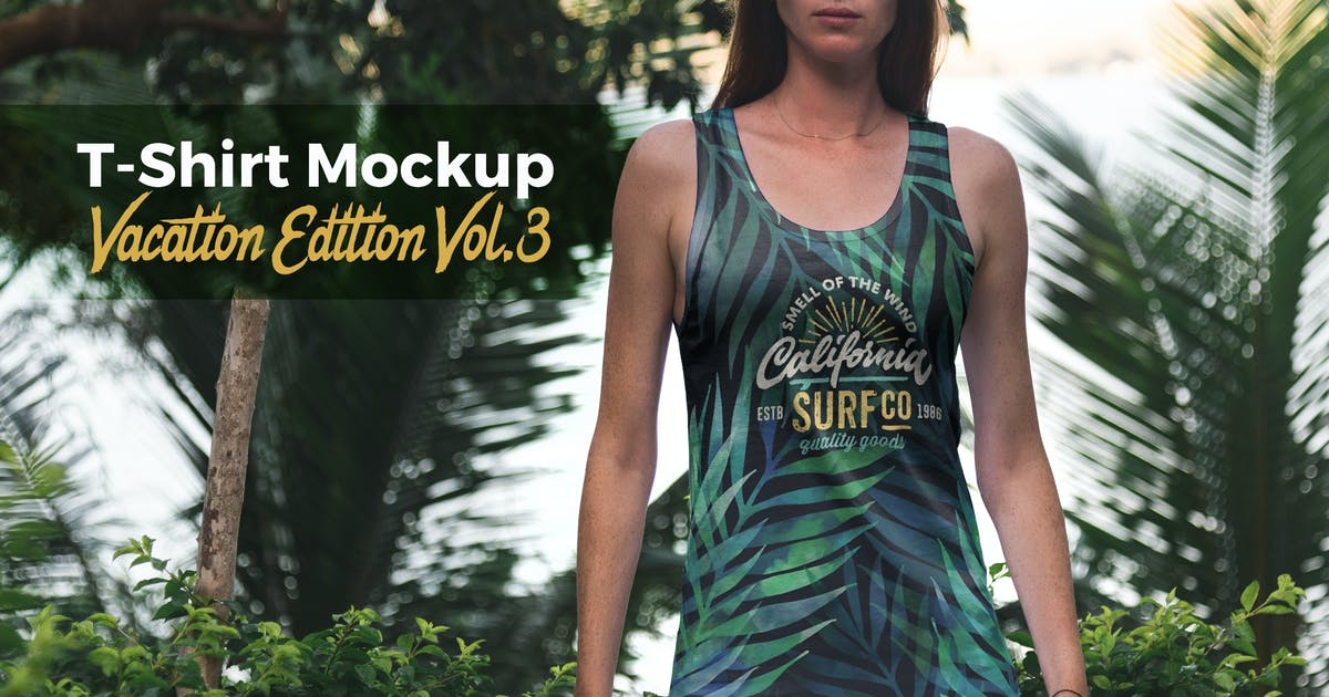 Download T-Shirt Mockup Vacation Edition Vol. 3 by Genetic96