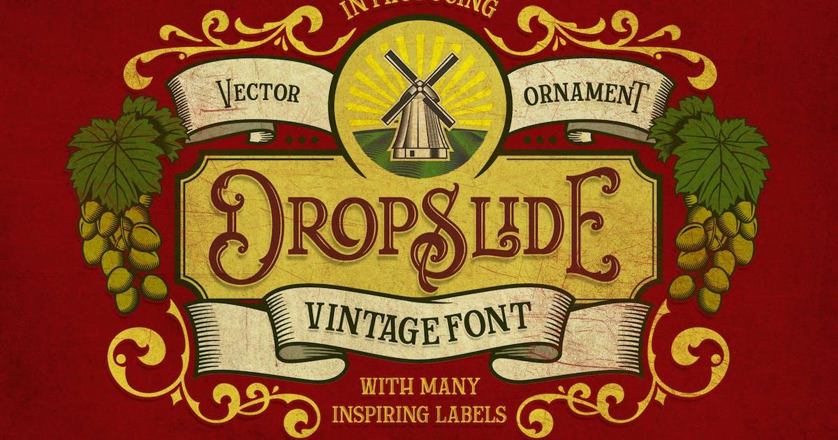 Dropslide Typeface by graptailtype