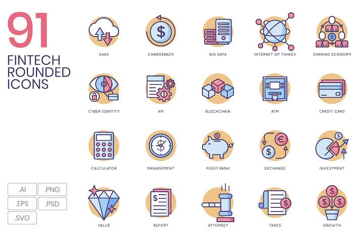Thumbnail for 91 Fintech Icons | Butterscotch