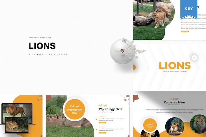 Львы | Шаблон Keynote