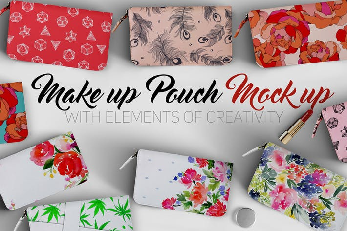 Makeup Pouch Mockup