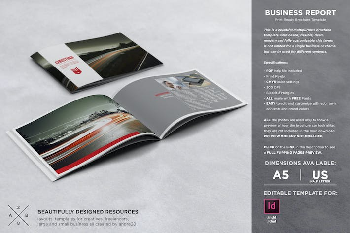 Thumbnail for Business Report / Brochure Template