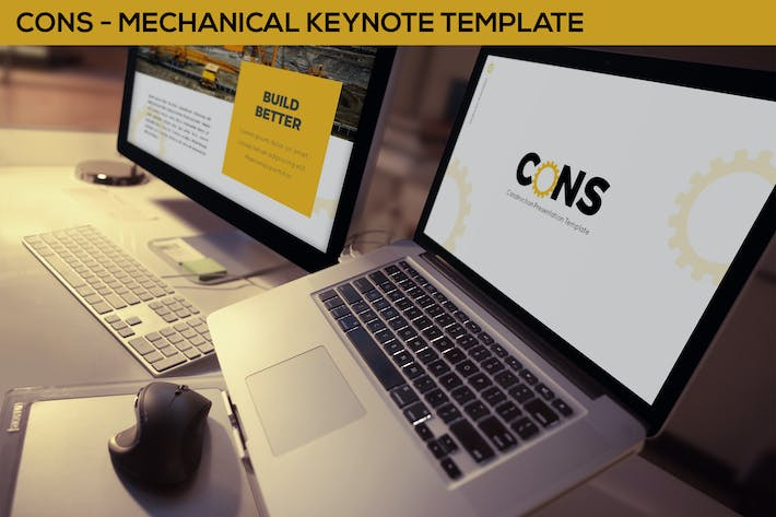 Thumbnail for Cons - Mechanical Keynote Template