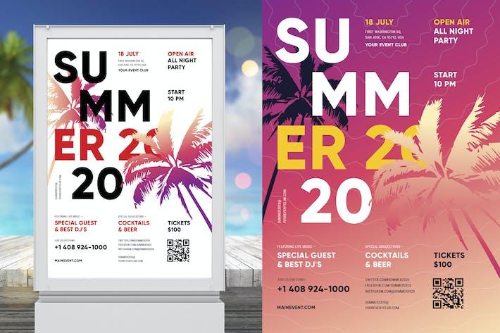 Sommer Poster Vorlage