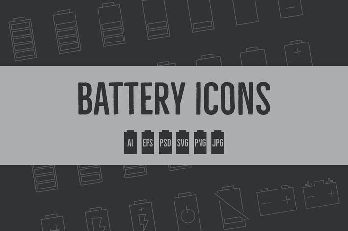 Thumbnail for Battery Level Modern Line / Silhouette Icons