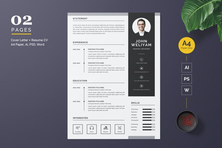 Thumbnail for Creative Resume / CV Template