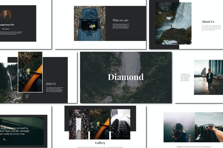 Thumbnail for Diamond - Keynote Templates