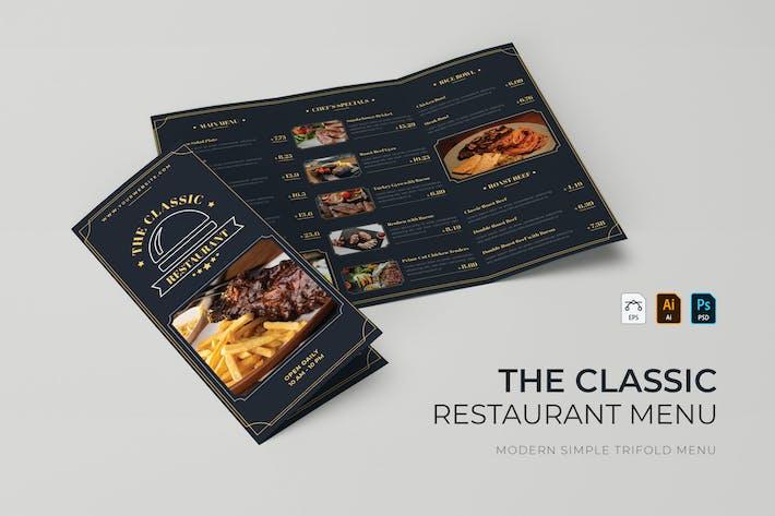 Classique | Menu du Restaurant