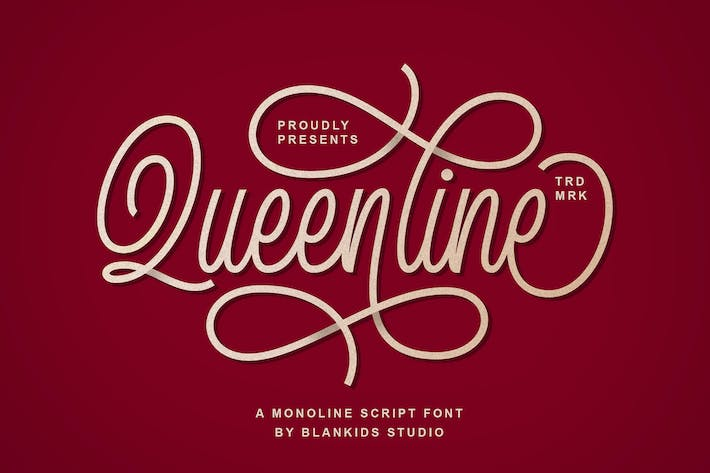 Thumbnail for Queenline Font