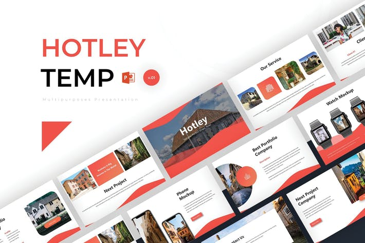 Thumbnail for Hotley - Powerpoint Template