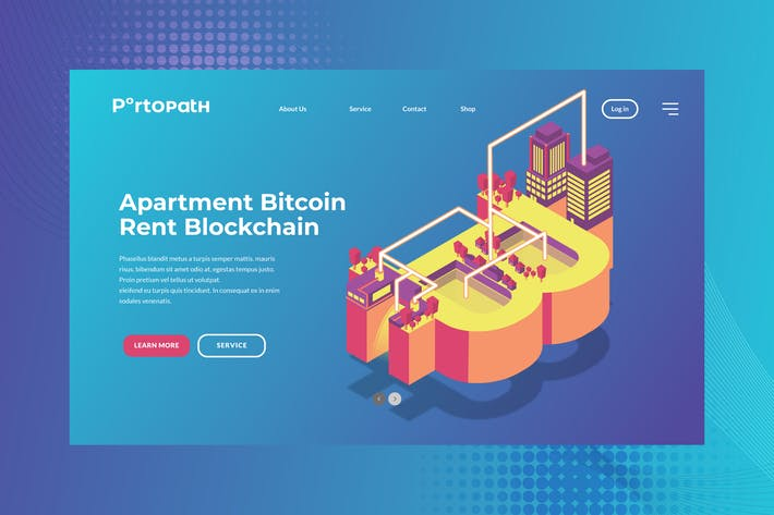 Thumbnail for Apartment Bitocin Banner & Landing Page Vector