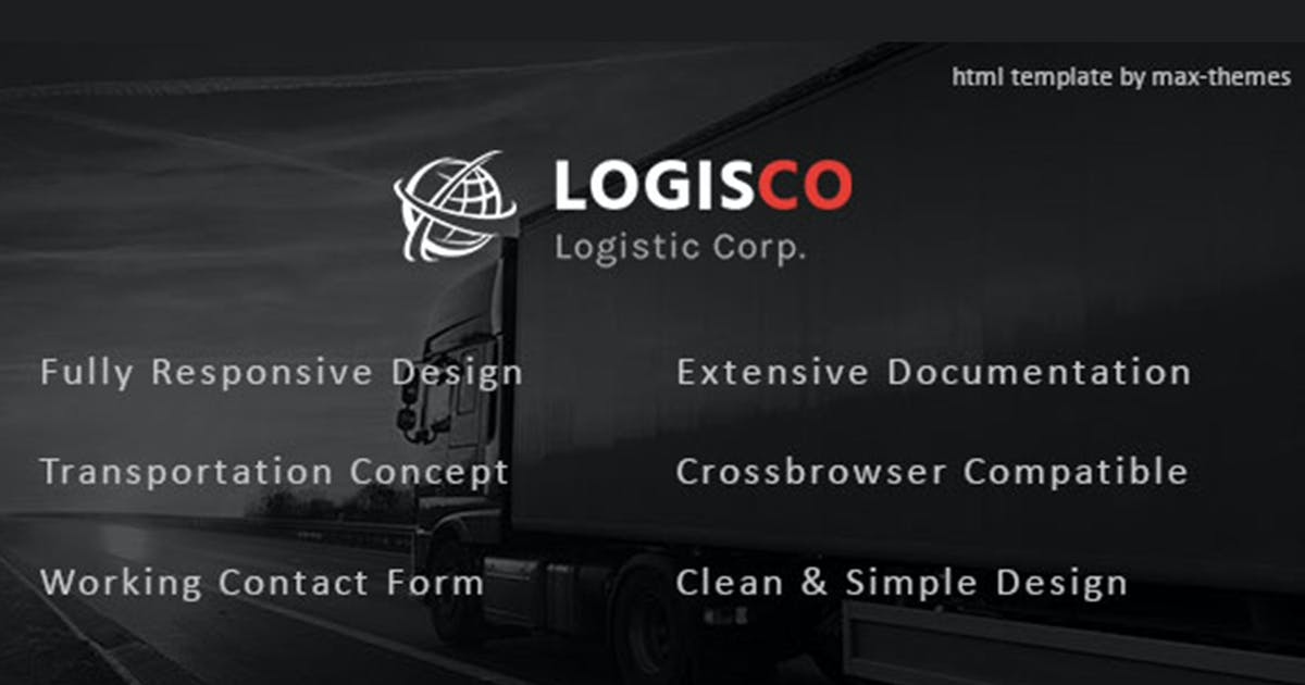Download Logisco - Logistics & Transportation HTML Template by max-themes