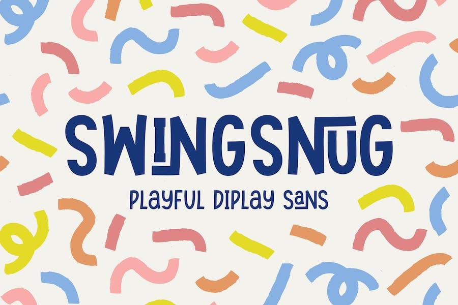 Swingsnug- Playful Display Sans