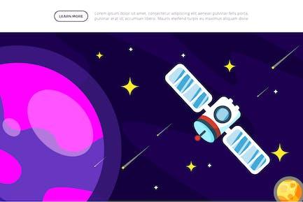 Satellite - Space Illustration Scene