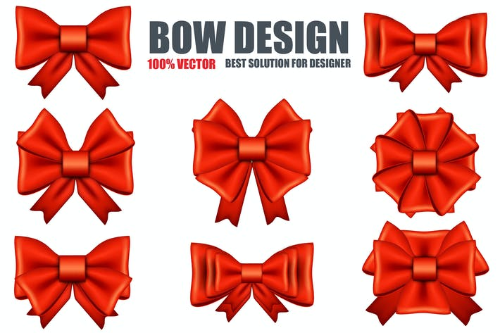 Realistic Red Bows