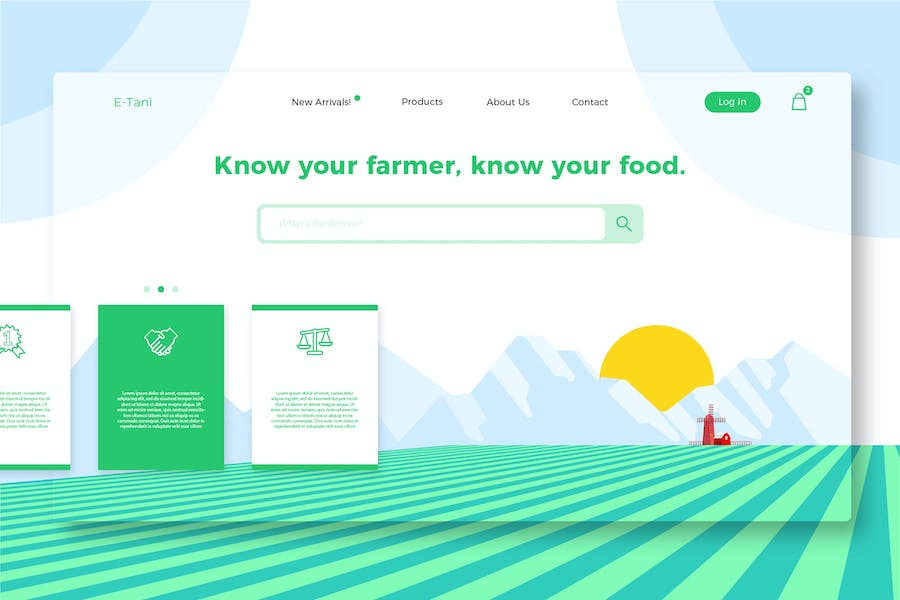 Farms - Banner & Landing Page