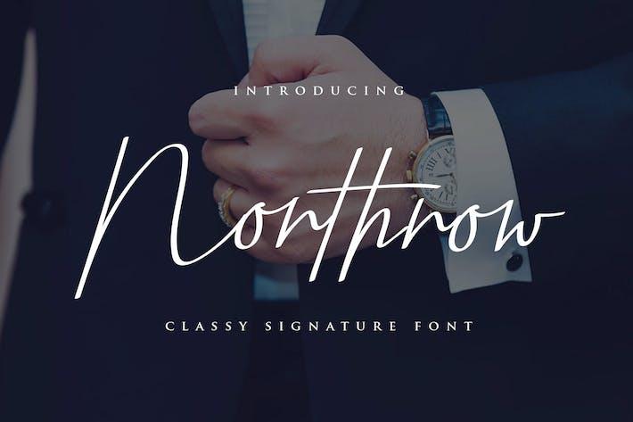 Thumbnail for Northrow Yp - Handwriting Font