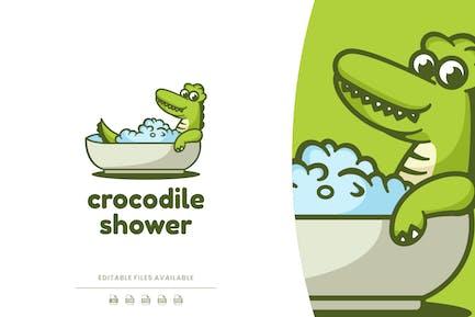 Crocodile Cartoon Logo