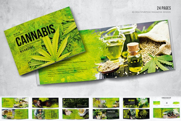 Thumbnail for Cannabis Magazine A5 Horizontal Bifold - 24 Pages