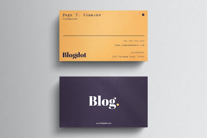 Thumbnail for Minimal Blogger Business Card