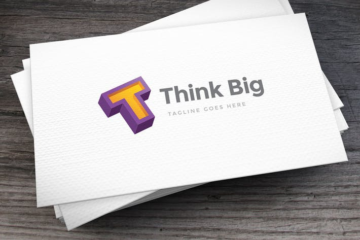 Thumbnail for Think Big Letter T Logo Template