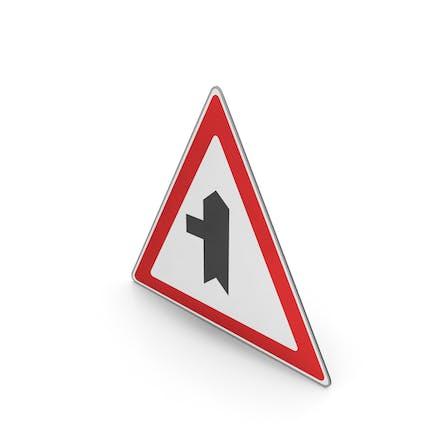 Road Sign Minor Road Ahead On Left