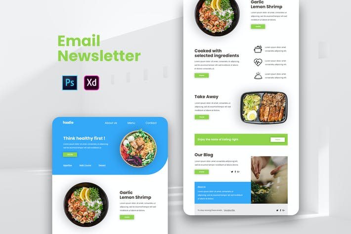 Healthy Food Email Newsletter