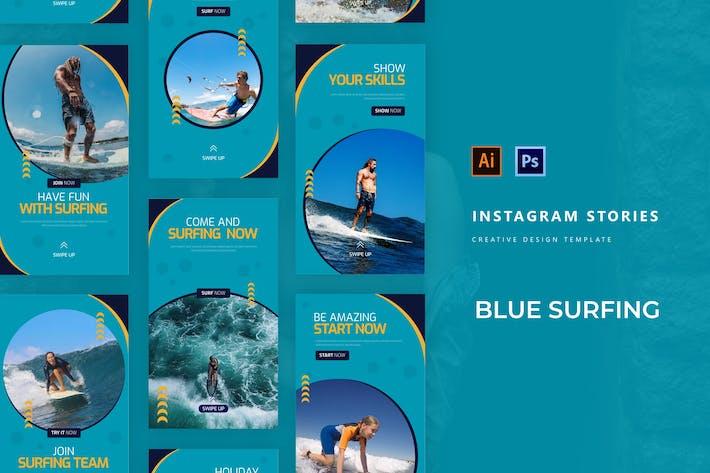 Blue Surfing Instagram Story