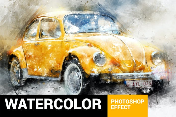 Thumbnail for Perfectum 3 - Watercolor Master Photoshop Action