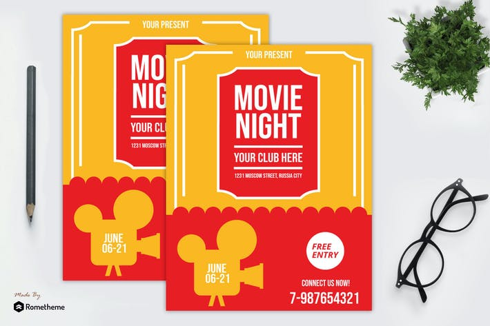Thumbnail for Movie Night Flyer vol. 02 MR