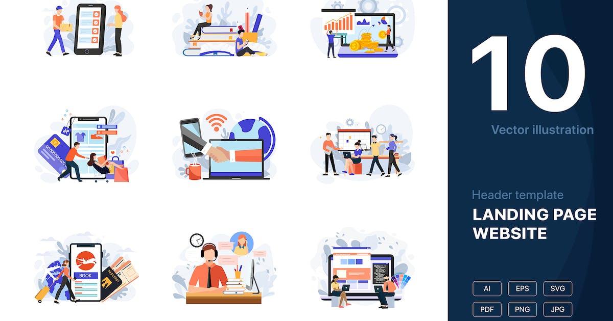 Download [Part 9] Website Illustrations Set by hoangpts