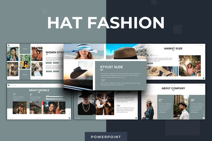 Thumbnail for Hat Fashion - Keynote Template