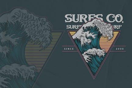 Wave - Surfing Badge