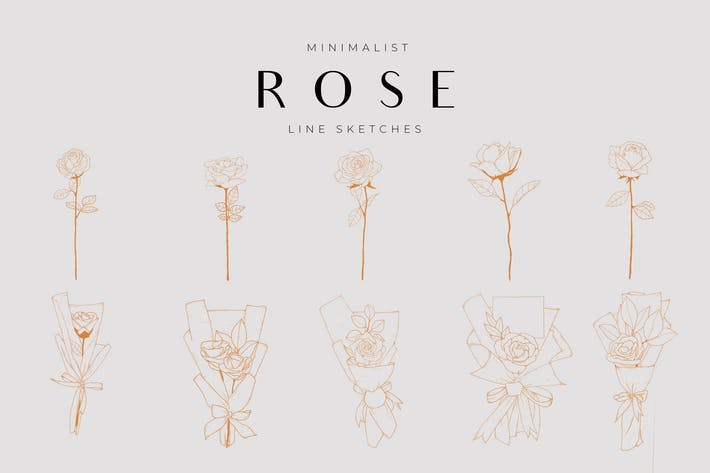 Thumbnail for Minimalist Flower Line Sketch