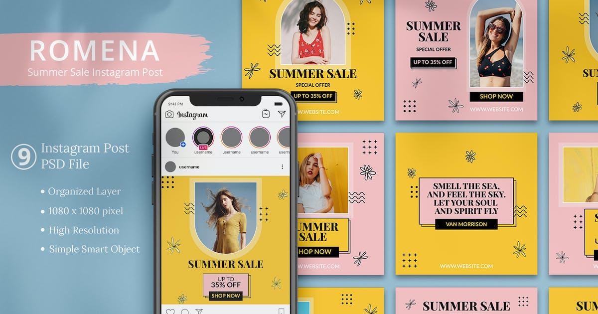 Download Romena - Summer Sale Instagram Post by Attype-Studio