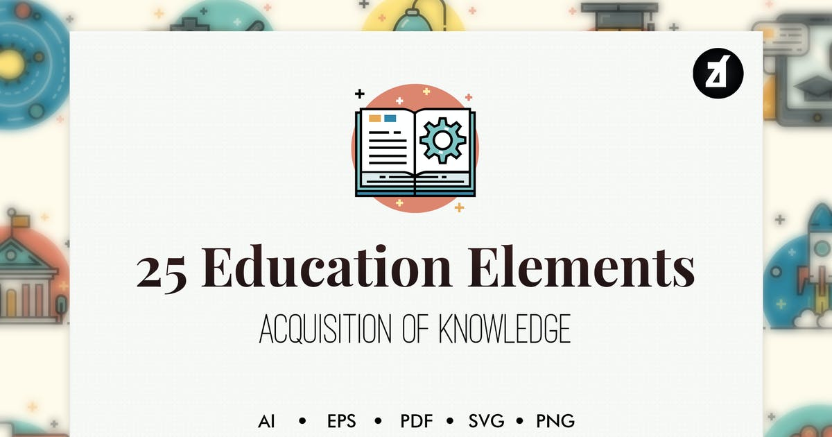 Download 50 Education elements by Chanut_industries