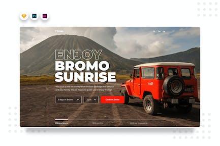DailyUI.v2 Travel Tour Website Hero UI